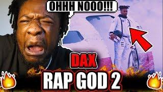SCRU FACE JEAN Reacts to DAX - Rap God 2 (REACTION!)