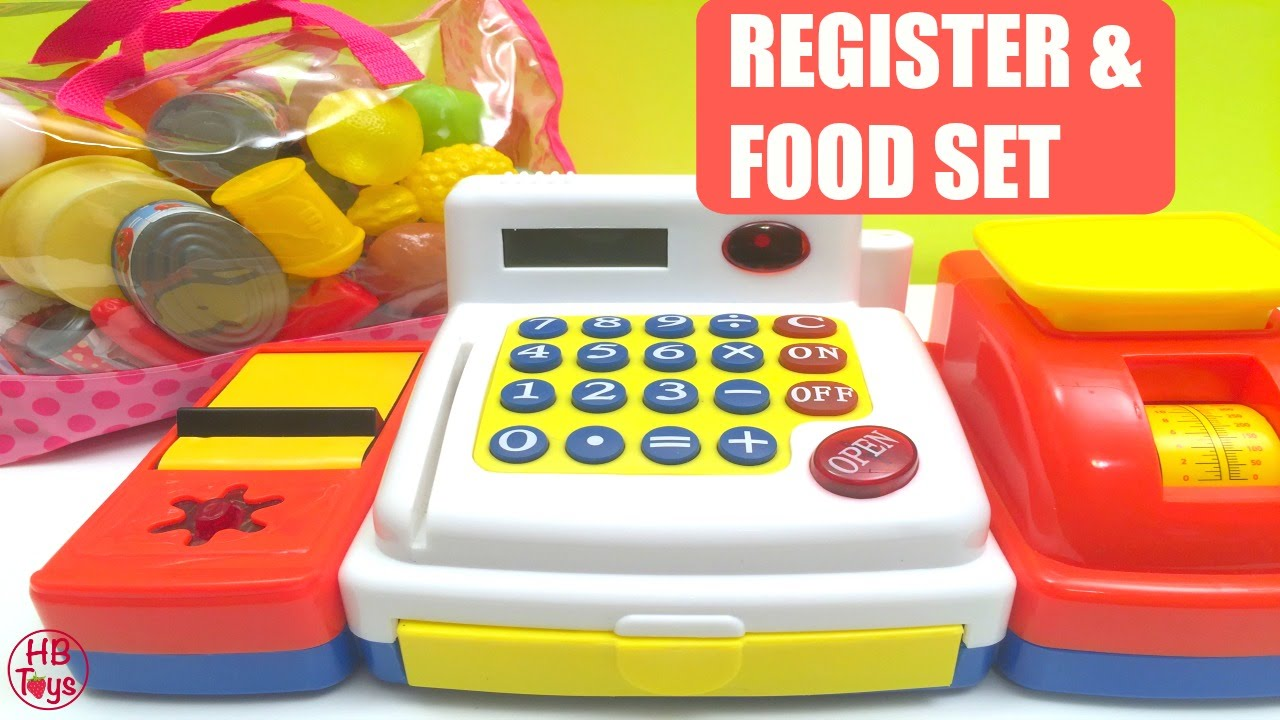 Play Kitchen Food toy cash register | kids cash register | kid connection play