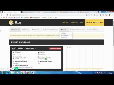 BTCClicks Scam ? - Bukti Pembayaran Bitcoin Dari Btc Clicks (ptc)