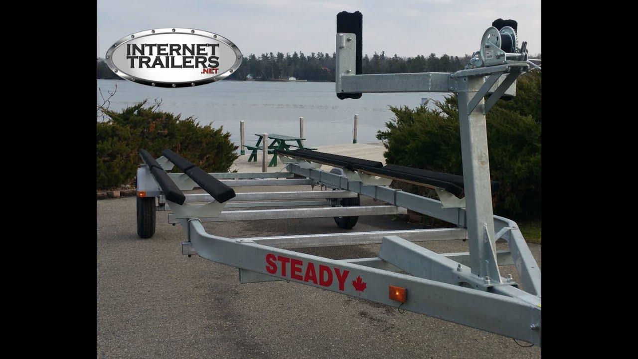 Steady Single Axle Pontoon Trailer Sg 2720p Youtube