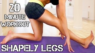 Lean, Strong Legs Workout! Beginners Home Fitness, 20 Minute Routine, Bikini Model Legs Part 2