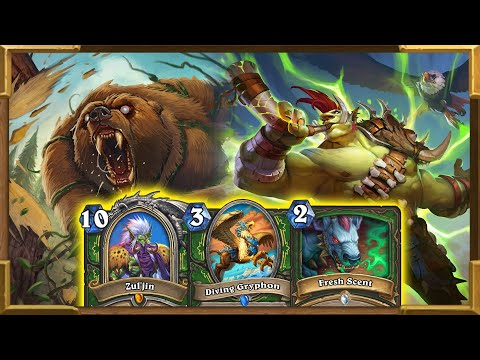 Hearthstone: New 2 Mana Broken Spell | Zul'jin Beasts Hunter With Dire Frenzy | Descent Of Dragons