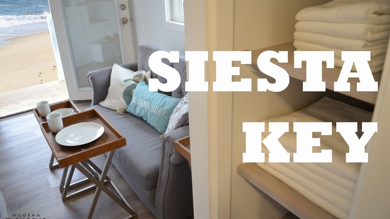 Gorgeous 3 Bedroom Beach Tiny House On Wheels In Siesta Key Youtube