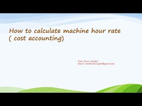 machine hour rate