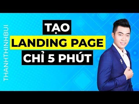 Hướng dẫn tạo Landing page chỉ với 5 phút - How To Create Landing Page in 5 min