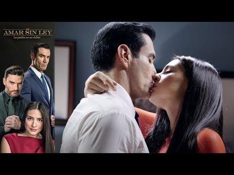 ¡El primer beso de Alejandra y Ricardo! | Por amar sin ley - Televisa