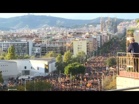 Barcelona: seperatists protest over jailed Catalan leaders