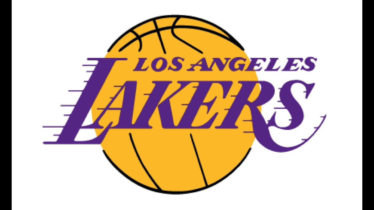how to draw a la lakers logo rh youtube com