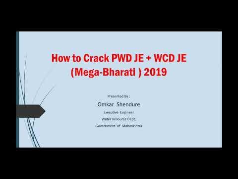 How to Crack PWD JE + WCD JE (Mega-Bharati ) 2019