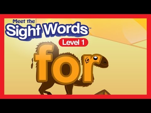 "Meet The Sight Words Level 1 - ""for"""