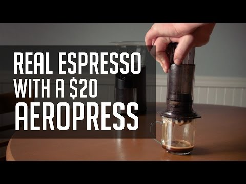 How to Make REAL Espresso With a $20 Aeropress! - Tutorial