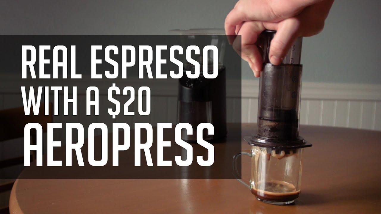 Aeropress Coffee Maker Demo : How to Make REAL Espresso With a USD 20 Aeropress! - Tutorial FunnyDog.TV