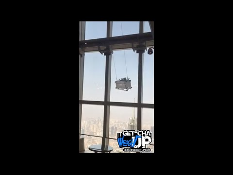 Two Window Cleaners In China Stuck On A Swinging Platform 91 Floors Up!