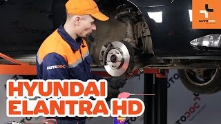 Stabilisatorkoppelstang veranderen HYUNDAI ELANTRA: werkplaatshandboek