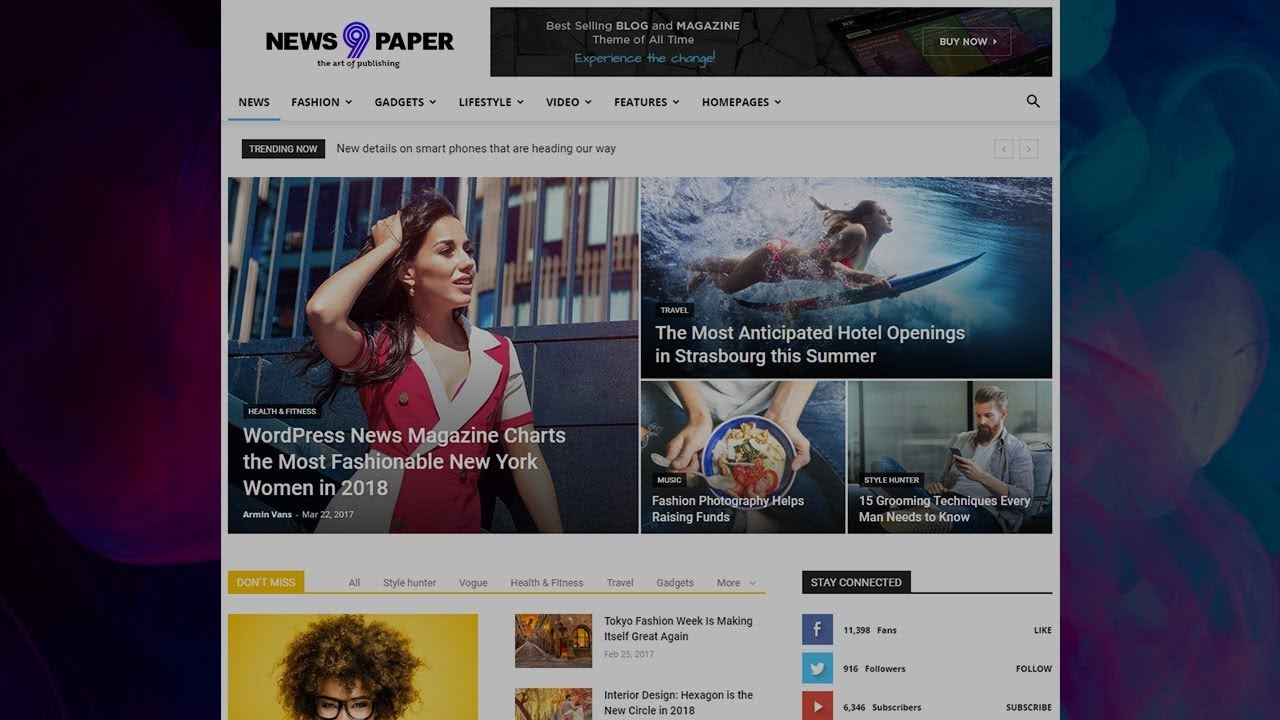Newspaper 9 WordPress Theme - How to use the tagDiv Social Counter plugin