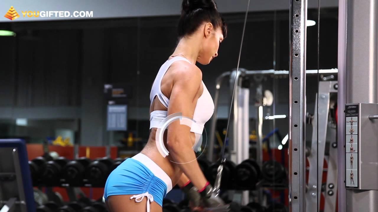 Фитнес. Тренировка трицепсов.