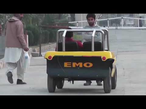 Test of EMO first Autonomous Vehicle of Pakistan