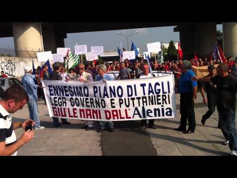 Sciopero Alenia aeronautica Campania casoria pomigliano nola capodichino 23/09/2011