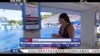 女子三米板何姿、王涵包揽前二进决赛