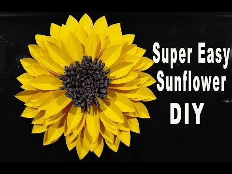 DIY PAPER LARGE SUNFLOWER / TUTORIAL / PAPER CRAFT