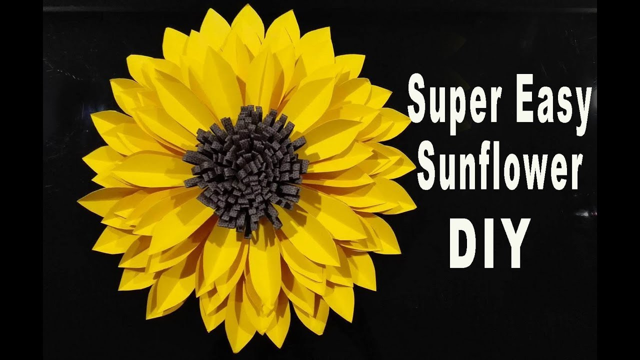 diy paper large sunflower    tutorial    paper craft