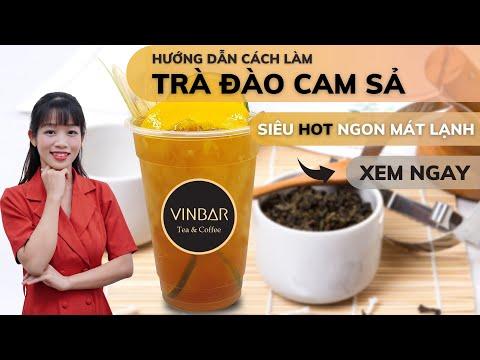 Hướng Dẫn Cách Làm Trà Đào Cam Sả Mát Lạnh Thơm Ngon Chuẩn Vị The Coffee House | VINBAR
