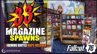 33 Magazine Locations over 3 Farming Runs | Fallout 76 Magazine Farming | Maps Included | LITerally
