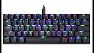 Cheap mechanical keyboard MOTO SPEED. Budget gaming devices.