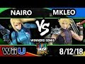 SSC 2018 Smash 4 - NRG | Nairo (ZSS) Vs. FOX MVG | MKLeo (Cloud) - Wii U Winners Semis