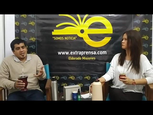 MATE O VIRTUAL🧉 en estudios🎥 de extraprensa.com, con Sebastián Tiozzo concejal electo, Eldorado.