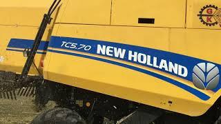 Kombajn zbożowy New Holland TC5.70 Żniwa rumianek 2017