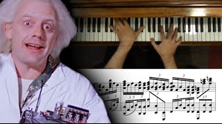 Back to the Future Main Theme Advanced Piano Cover with Sheet Music