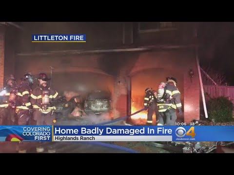 Large Fire Fueled By Gas In Vehicles At Highlands Ranch Home