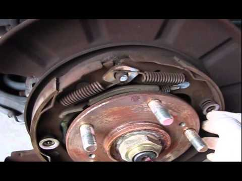 2005 Honda Pilot Emergency Brake Adjustment Installation And Brake Pads  Replacement Part 1