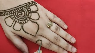 Back hand Beautiful henna Design Simple and Easy Mehndi design for hands Mehndi design
