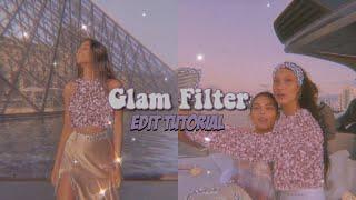 GLAM FILTER  ☾ aesthetic picsart edit tutorial.