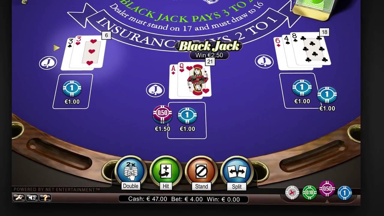 Law of large numbers blackjack