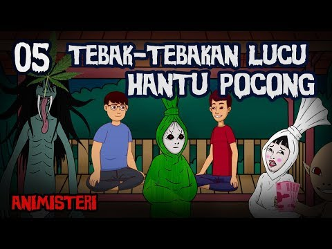 Animisteri 05 - Tebak-Tebakan Lucu Hantu Pocong - Kartun Lucu Horor, Kartun Hantu