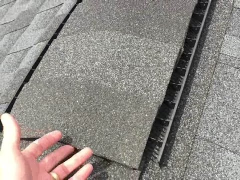 GAF ROOF RIDGE VENT:  What it looks like After 4 Years...