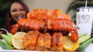 KING CRAB + LOBSTER TAILS + MEGA PRAWNS + SEAFOOD BOIL MUKBANG
