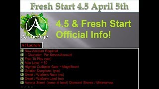 Archeage 4.5 Official Release & Fresh Start Confirmed NA/EU