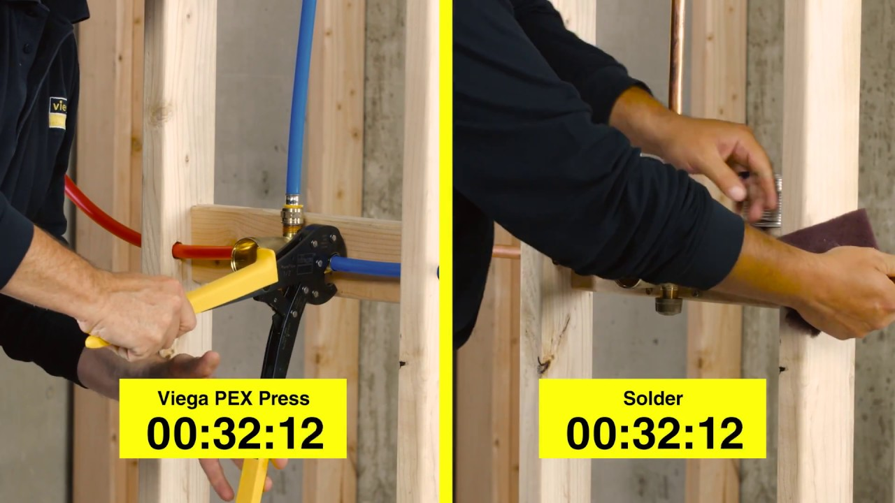 Viega PEX Press vs SOLDER & Why Wait? Viega PEX Press vs SOLDER - YouTube