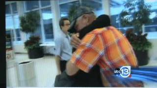 Emotional reunion for brother and sister