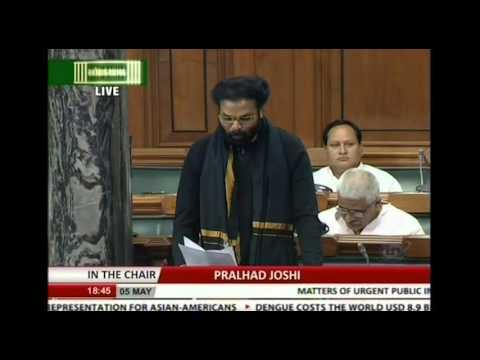 Matters of urgent public importance: Shri B. Sriramulu, 05.05.2016