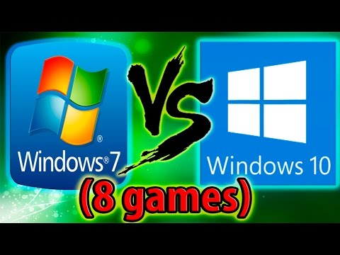 Windows 10 vs Windows 7 ( in 8 game!)