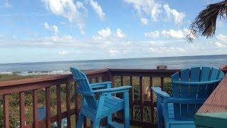 Folly Beach Ocean Front Vacation Rental VRBO 919 East Arctic Upstairs 843-580-3731