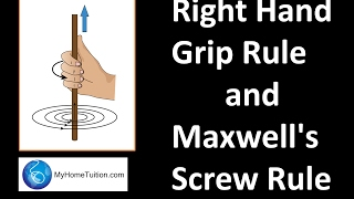 Right Hand Grip Rule And Maxwell's Screw Rule   Electromagnetism   Physics