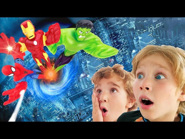 Лев и Глеб и Новые Супер герои Гуджитсу MARVEL Папа такого не ожидал