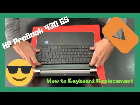 HP ProBook 430 G5 How To Keyboard Replacement Disassembly