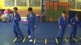 Дзюдо для малышей: координационная дорожка. Centre Judo Kids. Feodosiya